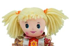 Blonde Cute rag doll portrait isolated Stock Photography