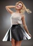 Blonde Dame Lizenzfreie Stockfotos