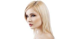 Blonde Dame mit Haarart Lizenzfreies Stockbild