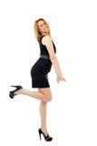Blonde dame volledige lengte Stock Fotografie
