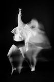 Blonde dancer, ballerina on black background Stock Photo