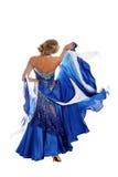 Blonde dans la danse Photo stock
