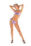 Blonde dans le bikini Image stock