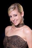 Blonde dans une robe de soirée photos libres de droits