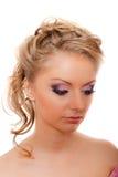 Blonde das pestanas de Strassed isolado Foto de Stock