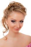 Blonde das pestanas de Strassed isolado Fotografia de Stock