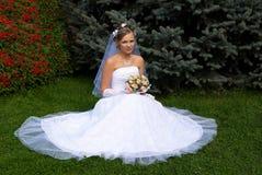 Blonde de mariée photo libre de droits