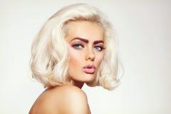 Blonde de platine Photo stock