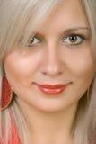 Blonde de sorriso Fotos de Stock