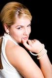 Blonde de sourire photographie stock