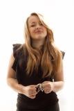 Blonde in de studio Royalty-vrije Stock Foto