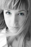 Blonde de vrouwengezicht van de schoonheid Stock Foto