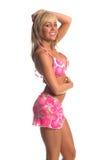 Blonde del bikini del Rhinestone immagini stock libere da diritti