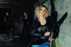 Blonde della protezione Fotografie Stock