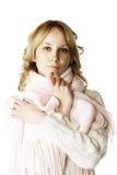 Blonde di pensiero Fotografia Stock