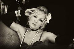 Blonde di seppia con l'atteggiamento Fotografia Stock Libera da Diritti