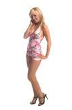 Blonde di Tankini dell'isola Fotografia Stock Libera da Diritti