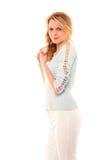 Blonde do fasion da beleza foto de stock