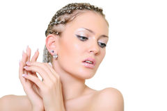 Blonde with dreadlocks Stock Images