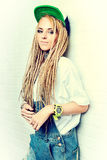 Blonde dreadlocks Royalty Free Stock Photography