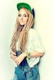 Blonde dreadlocks Royalty Free Stock Photography