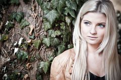 Blonde with a dreamy Look Royalty Free Stock Images