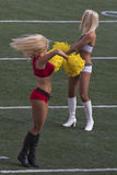 Blonde Drehbeschleunigung Stockfotografie