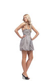 Blonde in dress  Royalty Free Stock Image