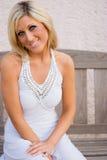 Blonde in Dress Stock Image