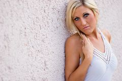 Blonde in Dress Royalty Free Stock Photo