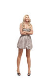 Blonde in dress isolated Royalty Free Stock Photography