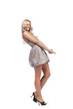 Blonde in dress isolated Royalty Free Stock Photos