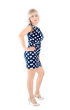 The blonde in a dress in spotted Stock Images