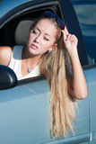 Blonde driver Stock Photo