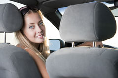 Blonde driver Royalty Free Stock Photos