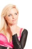 Blonde in dubbio fotografia stock