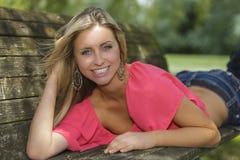 Blonde e olhos azuis novos Imagens de Stock Royalty Free