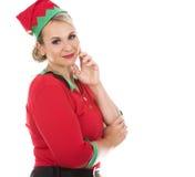 Blonde Elfenfrau Lizenzfreie Stockfotos