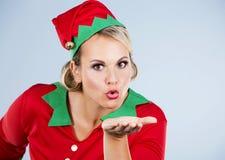 Blonde Elfenfrau Lizenzfreies Stockfoto
