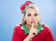Blonde Elfenfrau Stockbild