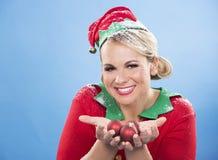 Blonde Elfenfrau Stockfoto