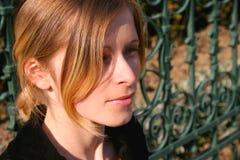 Blonde en automne Photos libres de droits