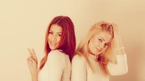Blonde en mulatmeisje samen Royalty-vrije Stock Fotografie