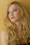 Blonde encrespado fotos de archivo libres de regalías