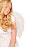 Blonde engel Stock Fotografie