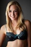 Blonde erwachsene Frau Lizenzfreies Stockfoto