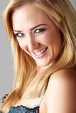 Blonde erwachsene Frau Lizenzfreie Stockbilder
