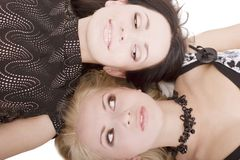 Blonde et Brunette Photos libres de droits