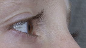 Blonde eye stock footage