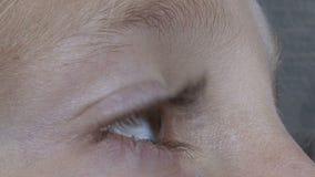 Blonde eye stock video